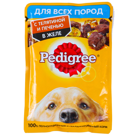 Շան խոնավ կեր «Pedigree» հորթի, լյարդի մսով 85գ