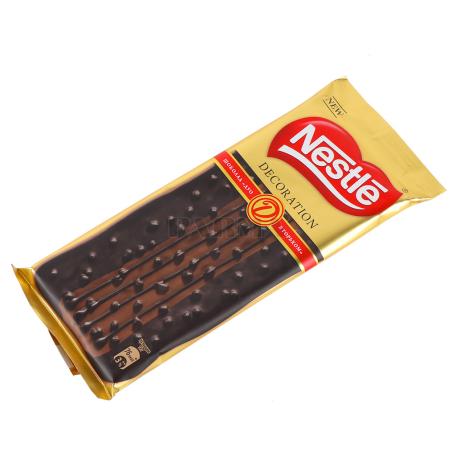 Շոկոլադե սալիկ «Nestle Decoration Duo» դառը շոկոլադ 85գ