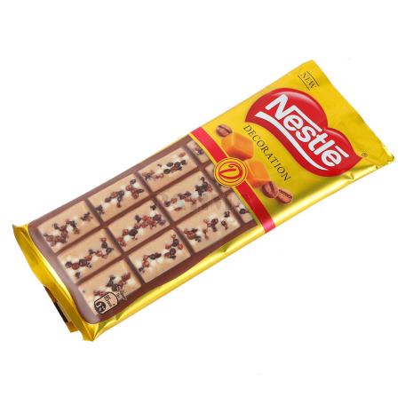 Շոկոլադե սալիկ «Nestle Decoration» սուրճ, կարամել 80գ