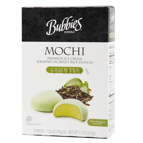 Պաղպաղակ «Bubbies Mochi Green Tea» 210գ