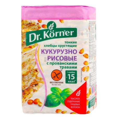 Հացիկ «Dr. Korner» եգիպտացորեն, բրինձ 100գ