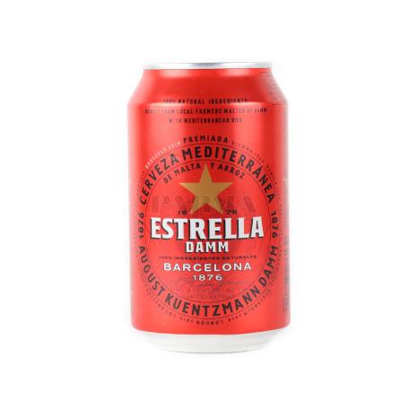 Գարեջուր «Estrella Damm» բաց 330մլ