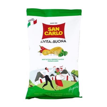 Չիպս «San Carlo Piu Gusto» անանուխ, կծու պղպեղ 50գ