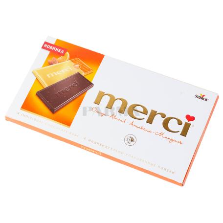 Շոկոլադե սալիկ «Merci» մուգ շոկոլադ, նարինջ 100գ