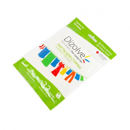 Լվացքի թերթիկներ «Dizolve Fragrance Free» էկո 16 հատ