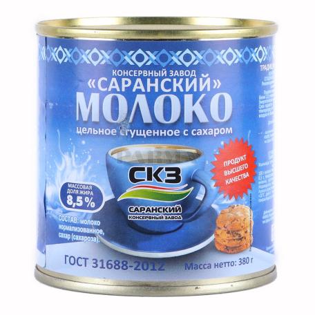 Խտացրած կաթ «СКЗ» շաքարավազով 8.5% 380գ