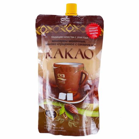 Խտացրած կաթ «СКЗ» շաքարավազով, կակաոյով 7.5% 380գ