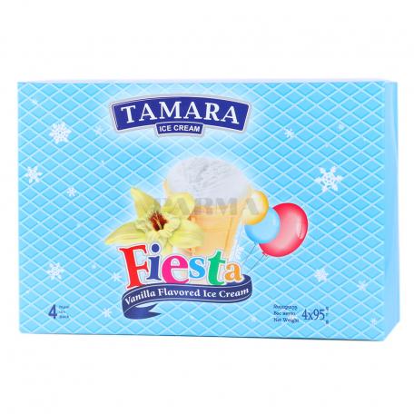 Պաղպաղակ «Թամարա Fiesta» վանիլ 4x95գ