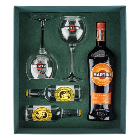 Վերմուտ «Martini Fiero»+ 2 տոնիկ, 2 բաժակ 750մլ