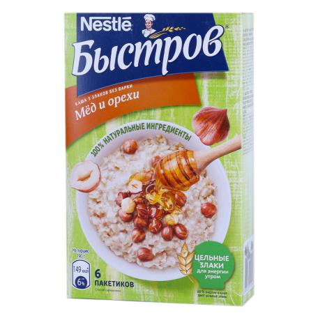 Շիլա վարսակի «Nestle Быстров» մեղր, ընկույզ 240գ
