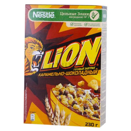 Պատրաստի նախաճաշ «Nestle Lion» կարամել, շոկոլադ 230գ