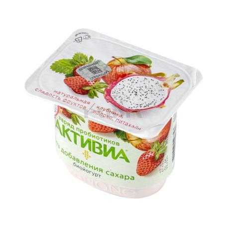 Բիոյոգուրտ «Danone Активиа» ելակ, խնձոր, պիտահայա 2.9 % 150գ