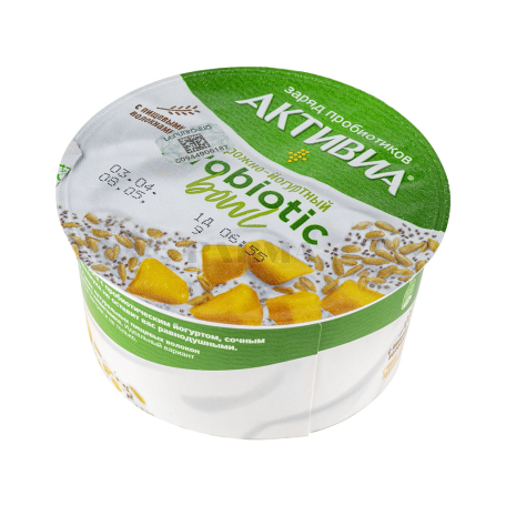 Կաթնաշոռային արտադրանք «Danone Активиа» մանգո, արևածաղկի սերմեր 3․5% 135գ