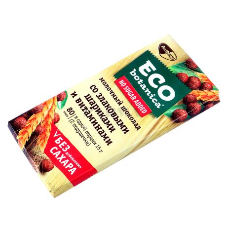 Շոկոլադե սալիկ «РотФронт Eco Botanica» հացահատիկային գնդիկներ 90գ