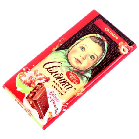 Շոկոլադե սալիկ «Аленка» գրանոլա 90գ