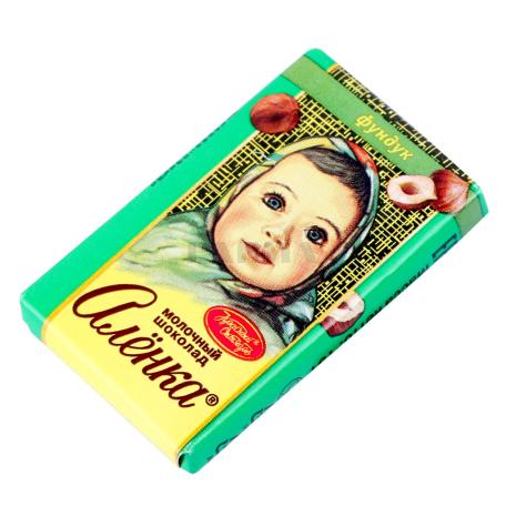 Շոկոլադե սալիկ «Аленка» պնդուկ 15գ