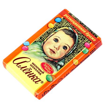 Շոկոլադե սալիկ «Аленка» գունավոր դրաժե 15գ