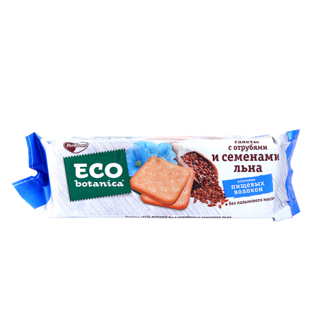 Կրեկեր «Ротфронт Eco Botanica» կտավատի սերմերով, թեփով 160գ
