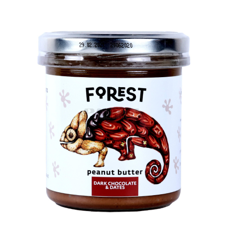 Կարագ-կրեմ գետնանուշի «Forest» սև շոկոլադ, արմավ 300գ
