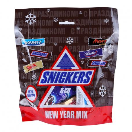 Շոկոլադե կոնֆետներ «Snickers» ամանորյա միքս 278գ