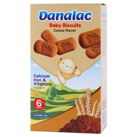 Թխվածքաբլիթ «Danalac» կակաոյով 120գ
