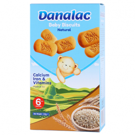 Թխվածքաբլիթ «Danalac» բնական 120գ