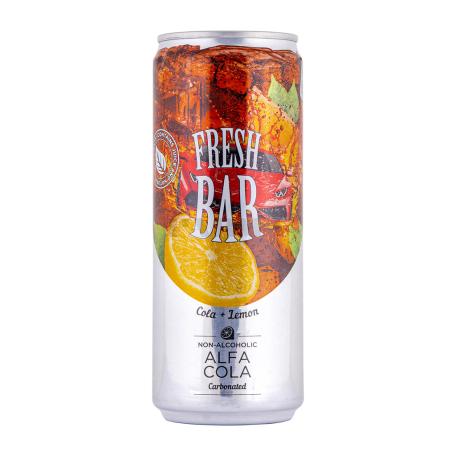 Զովացուցիչ ըմպելիք «Fresh Bar Alfa Cola» կիտրոն 330մլ