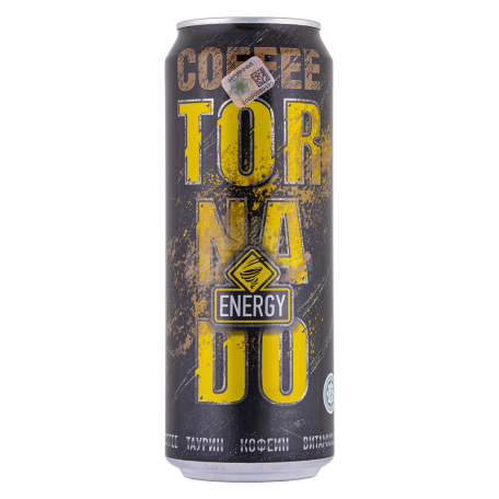 Էներգետիկ ըմպելիք «Tornado Energy Coffee» 450մլ