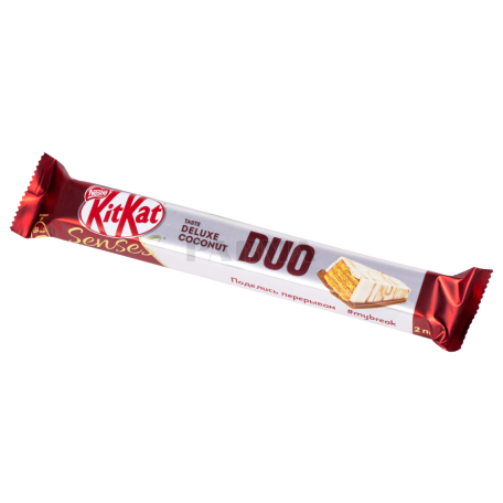 Բատոն «KitKat Duo Senses Deluxe Coconut» սպիտակ շոկոլադ, կոկոս 58գ
