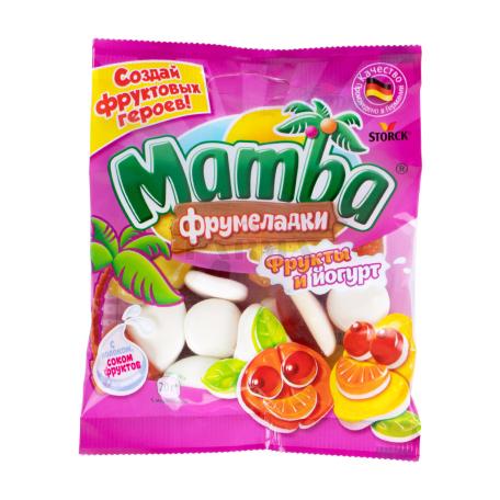 Դոնդողանման կոնֆետներ «Mamba» մրգեր, յոգուրտ 72գ