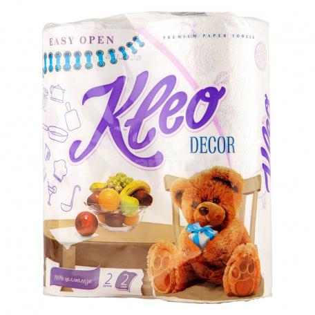 Սրբիչ թղթե «Kleo Decor» 2հատ