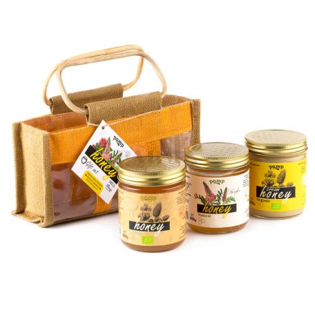Մեղր «Փամփ» տեսականի, պայուսակով 3x500գ