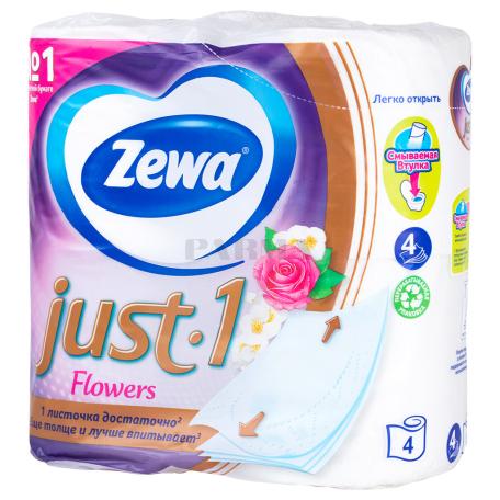 Զուգարանի թուղթ «Zewa Just Flowers» 4 հատ