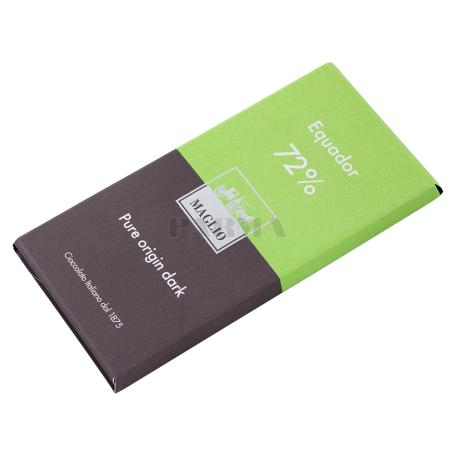 Շոկոլադե սալիկ «Maglio Equador 72%» մուգ 80գ