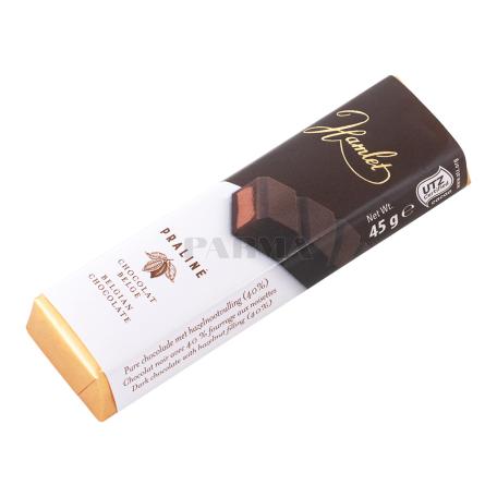 Շոկոլադե բատոն «Hamlet Praline» մուգ 45գ