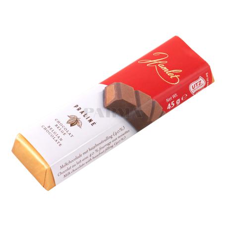 Շոկոլադե բատոն «Hamlet Praline» կաթնային 45գ