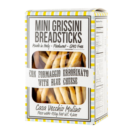 Հացիկ «Casa Vecchio Mini Grissini» կապույտ պանրով 130գ