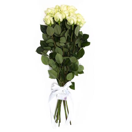 Ծաղկեփունջ «11 Սպիտակ Վարդ»