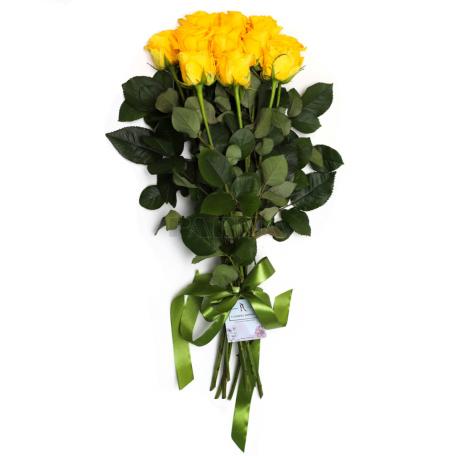 Ծաղկեփունջ «11 Դեղին Վարդ»