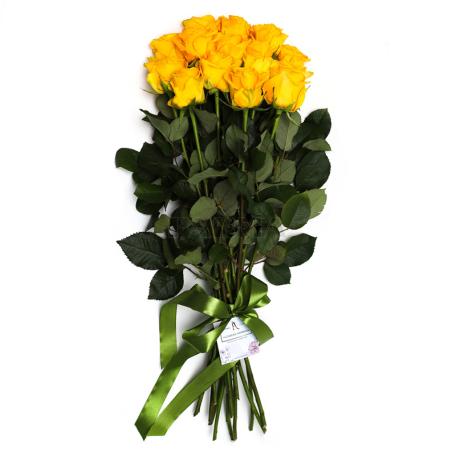 Ծաղկեփունջ «15 Դեղին Վարդ»
