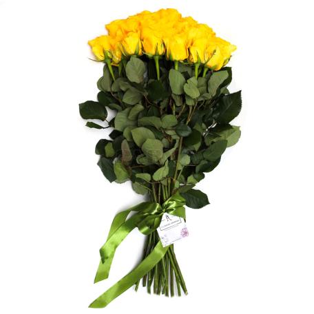 Ծաղկեփունջ «19 Դեղին Վարդ»