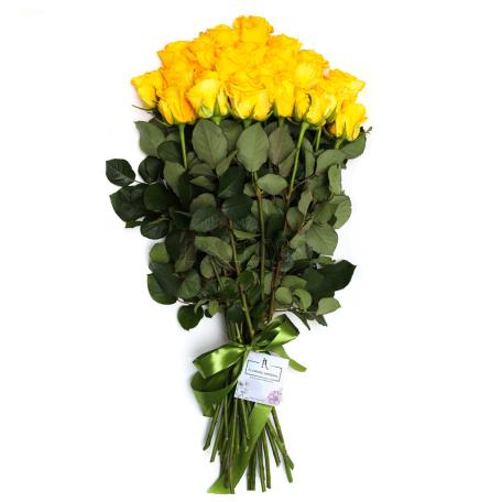Ծաղկեփունջ «21 Դեղին Վարդ»