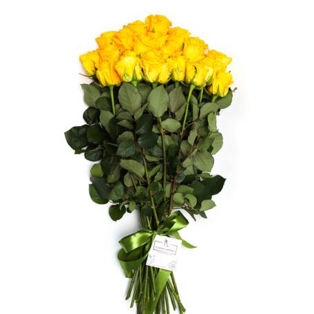 Ծաղկեփունջ «25 Դեղին Վարդ»