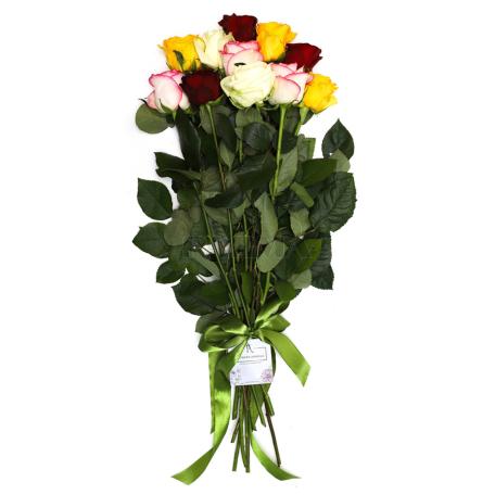Ծաղկեփունջ «11 Բազմագույն Վարդ»