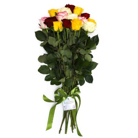 Ծաղկեփունջ «15 Բազմագույն Վարդ»