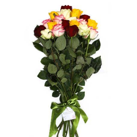 Ծաղկեփունջ «19 Բազմագույն Վարդ»