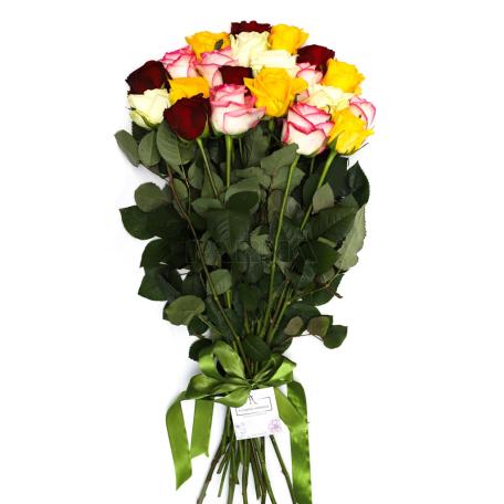 Ծաղկեփունջ «21 Բազմագույն Վարդ»
