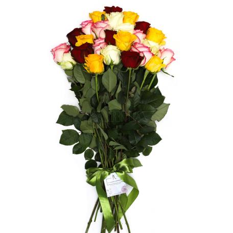 Ծաղկեփունջ «25 Բազմագույն Վարդ»