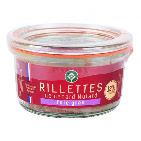 Պահածո բադի «Rillettes De Canard Foie Gras» 120գ