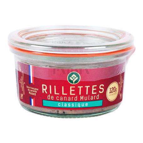 Պահածո բադի «Rillettes De Canard Classique» 120գ